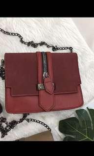 Zipper Cross Body Bag