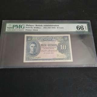 Malaya 10 cents 1941
