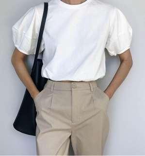 Sunder front split bell pants