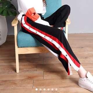 side button pants