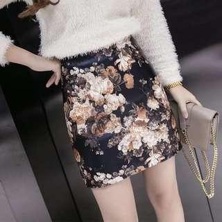 Floral Skirt (NEW- High Quality)