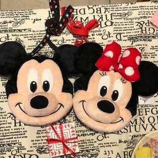 迪士尼大頭米奇or米妮悠遊票卡零錢包