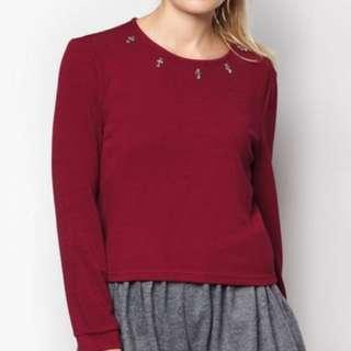 Maroon Inner Circle Frolicsome Top