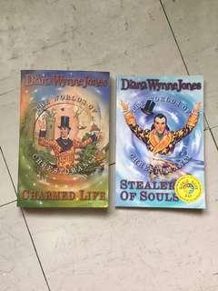 Books by Diana Wynne Jones: Charmed Life & Stealer of Souls