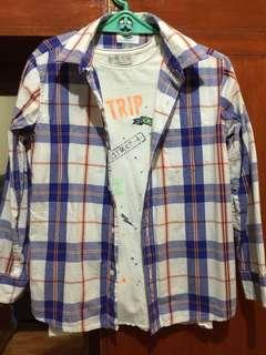 Old Navy Plaid Polo