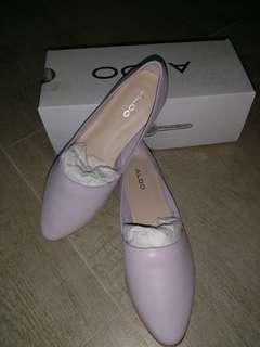 ALDO 淺粉紫色真皮平底鞋
