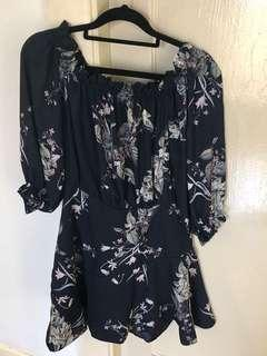 Sheike navy floral dress size 8