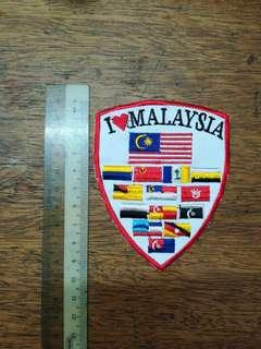 Malaysia Patches with 13 states flag