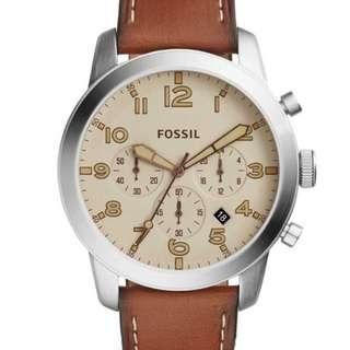 🚚 Fossil Pilot 54 Chronograph Light Brown Watch FS5144
