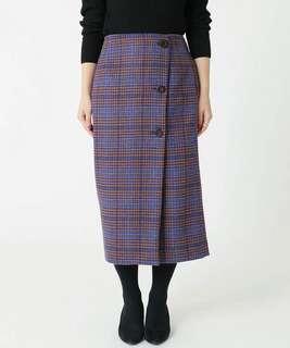英倫羊毛保暖長裙