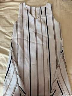 🚚 White Striped dress