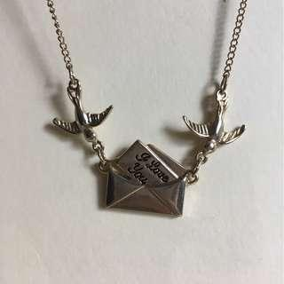 Cute Bird and Envelope Necklace