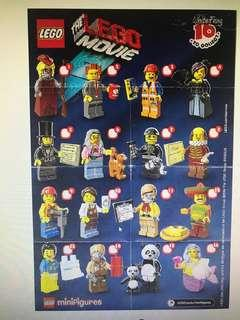 Lego Movie Series 1 CMF minifigures ziploc re-packed