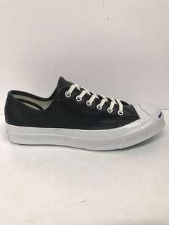 🚚 CONVERSE JACK PURCELL SIGNATURE BLACK/WHITE LEATHER