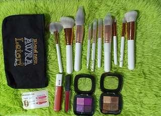 Anne clutz brushes+lipstick+eyeshadow+free shipping metro manila only