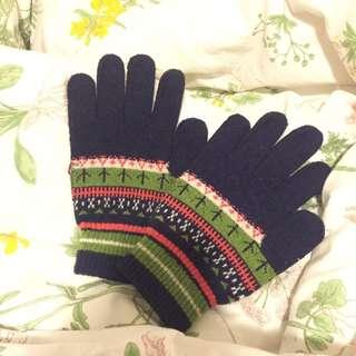 ✨Blue Gloves with Pattern💙