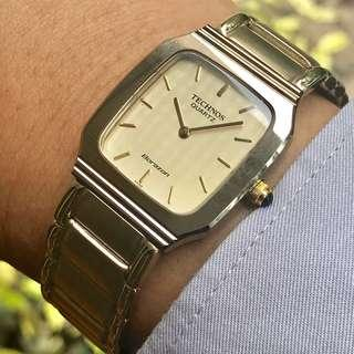 TECHNOS Borazon N700263 Swiss Made Original Gold Plated Stainless Steel Like New