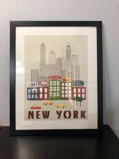 🚚 New York Poster (WITH FRAME)