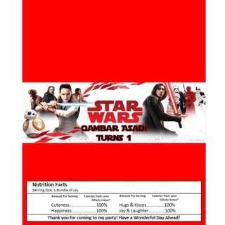 🚚 Kit Kat Chocolate Wrapper - Star Wars