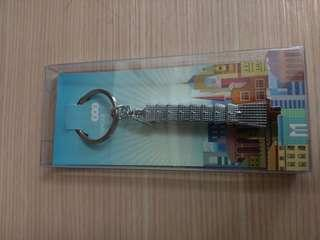 🚚 101大樓鑰匙圈 亮銀