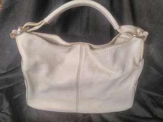 White leather handbag tod's