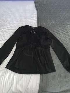 Long sleeved top size 6