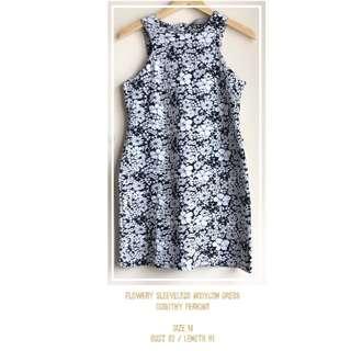 Flowery Sleeveless Bodycon Dress