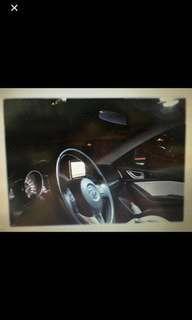 Car cabin white LED