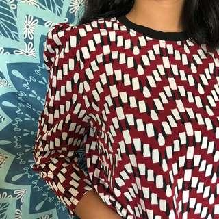 Zara ins puff shoulder top