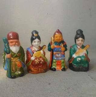 🚚 日本小福神瓷偶4個一組