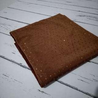 Pashmina pasmina jersey coklat brown gold