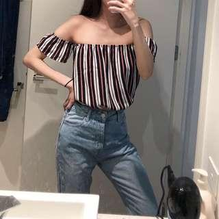 Colourful striped top