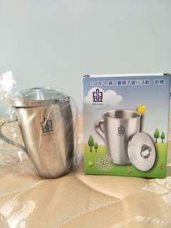 🚚 抗菌不鏽鋼單層冷水杯(420CC)-印有中鋼logo