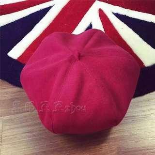 🚚 Wine Red Artist Hat