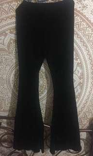 Black Bell Button Velvet Pants- price is including postage to WM