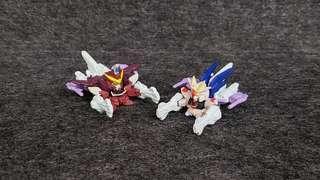SD Gundam Full Color 自由高達流星號 正義高達流星號 初版四穴 高達 高達扭蛋