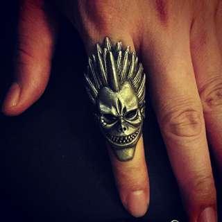 🚚 稀有 嬉皮 龐克 戒指