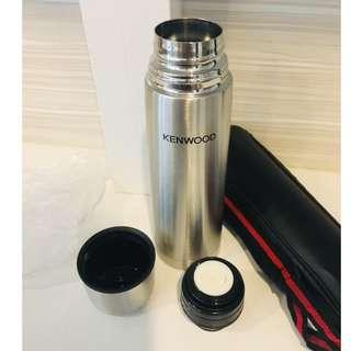 (NEW & UNUSED) Kenwood Stainless Steel Thermos Vacuum Flask with Thermos Bottle Carry Bag