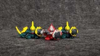 SD Gundam Full Color  紅鸚鵡 綠鸚鵡 組合 初版四穴 高達 高達扭蛋
