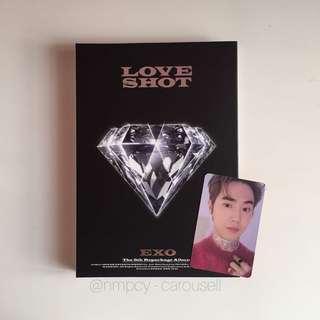 (WTS) EXO love shot album suho photocard