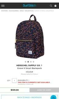 🚚 Groove X Small Backpack Small Flower Black