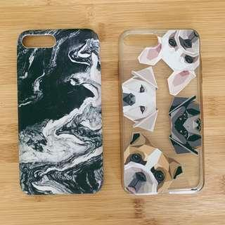 Black & White Marble and Milkyway Doggies iPhone 7+ Cases