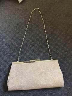 Gold formal clutch