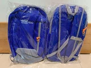Blue sports backpack