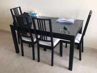 🚚 Dining Table with 4 Chairs
