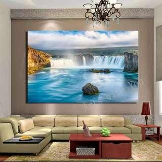 In stock - Majestic waterfall canvas painting