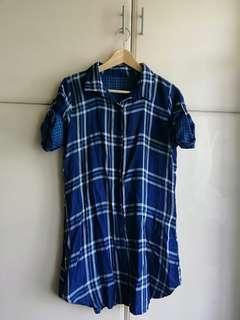 NB Chekered Tshirt Dress