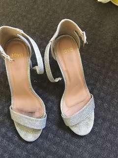 Silver glittery heels!