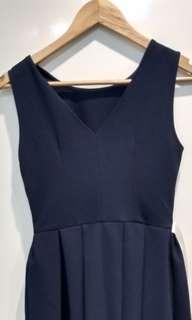 BNWT Navy formal flare dress