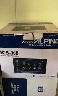 Alphine Head unit. double din . Ics x8 model